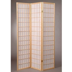 Oriental Shoji 3-panel Natural Room Divider Screen