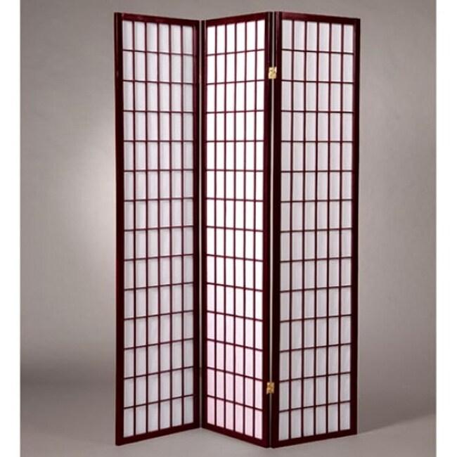 Oriental Shoji 3-panel Cherry Room Divider Screen