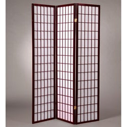 Oriental Shoji 3-panel Cherry Room Divider Screen