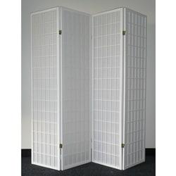 Oriental Shoji 4-panel White Room Divider Screen