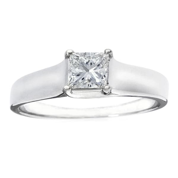 Montebello 14k Gold 1/2ct TDW IGL Certified Diamond Solitaire Engagement Ring (H-I, I1)