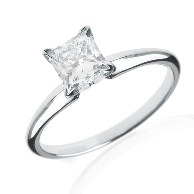14k White Gold 1/2ct TDW Certified Diamond Engagement Ring (H-I,I1)
