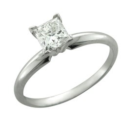 14k White Gold 3/4ct TDW Diamond Solitaire Engagement Ring (H-I, I1)