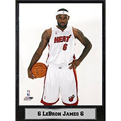 Miami Heat LeBron James Photograph Plaque (9 x12)