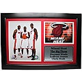 Miami Heat Red 'The Big Three' Framed Stat Photograph