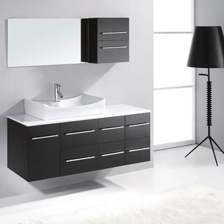 Virtu USA Ceanna 54-inch Single Sink Bathroom Vanity Set