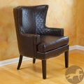 Christopher Knight Home Roma Brown Quilted Bonded Leather Arm Chair