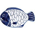 Dansk Arabesque Blue and White Hand-painted Small Fish Platter