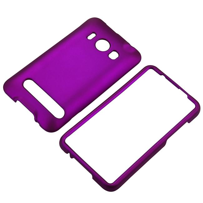 INSTEN Snap-On Rubber-Coated Dark Purple Phone Case Cover for HTC EVO 4G