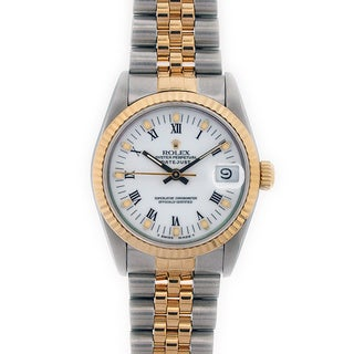 Pre-owned Rolex Women's Midsize Two-tone Gold Watch