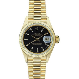 Pre-Owned Rolex Women's 'President' Gold Watch