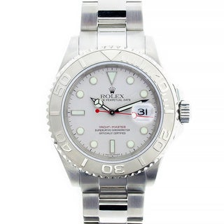 Pre-Owned Rolex Men's Yachtmaster Stainless Steel Grey Watch