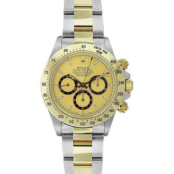 pre owned rolex s daytona two tone gold
