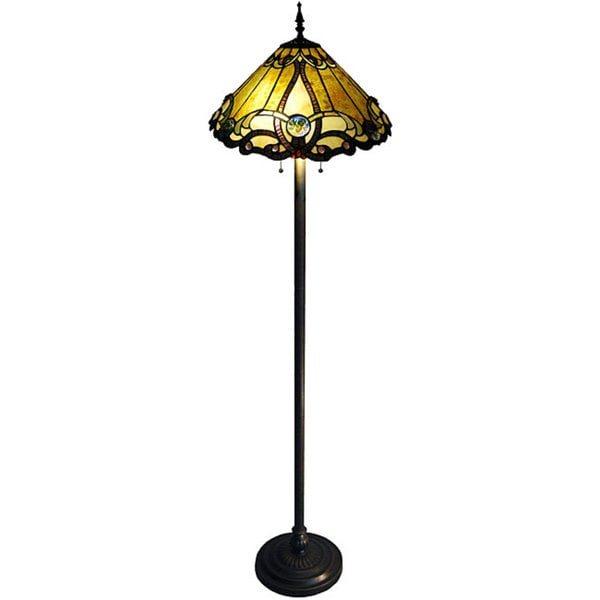 tiffany style 2 light bronze victorian floor lamp 13019438. Black Bedroom Furniture Sets. Home Design Ideas