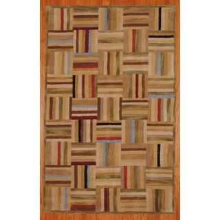 Indo Hand-tufted Tibetan Multicolor Wool Rug (4'9 x 7'9)