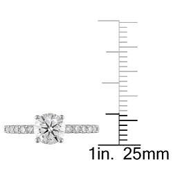 14k White Gold 1 1/4ct TDW Diamond Engagement Ring (G-H, I1-I2)