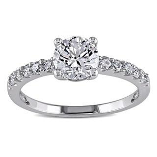 Miadora 14k White Gold 1 1/4ct TDW Diamond Engagement Ring (G-H, I1-I2)