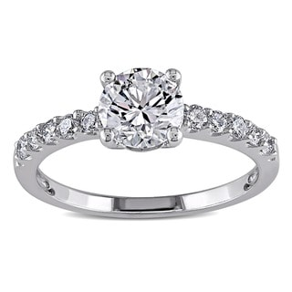 Miadora 14k White Gold 1 1/4ct TDW Diamond Engagement Ring (G-H, I1-I2)