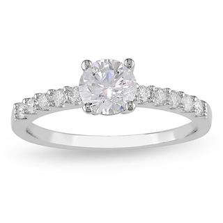 Miadora 14k White Gold 1ct TDW Certified Diamond Engagement Ring (G-H, I1-I2)