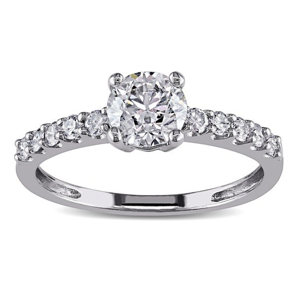 Miadora 14k White Gold 1ct TDW Certified Diamond Ring (G-H, I1-I2)