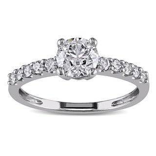Miadora Signature Collection 14k White Gold 1ct TDW Certified Diamond Engagement Ring (G-H, I1-I2)
