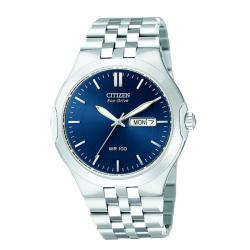Citizen Men's Eco-Drive Corso Stainless Steel Blue Dial Watch