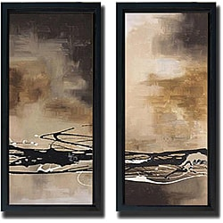Laurie Maitland 'Tobacco and Chocolate' 2-piece Framed Canvas