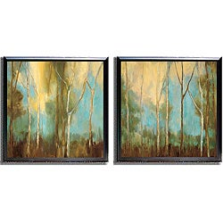 Kristi Mitchell 'Bare Trees' 2-piece Framed Canvas