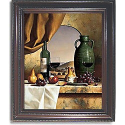 Loran Speck 'Arch with a View' Vertical Framed Canvas Art