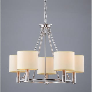 Indoor 5-light Antique Nickel Chandelier