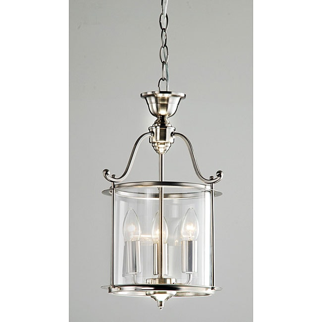 Indoor 3 Light Antique Nickel Chandelier Pendant Ceiling