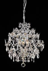 Elegant Indoor 3-Light Chrome/Crystal Chandelier