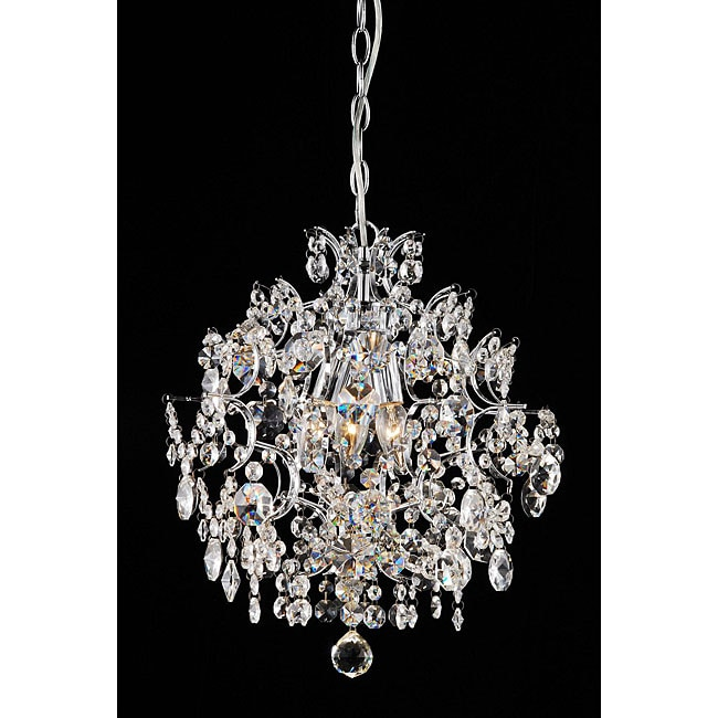 indoor 6 light chrome crystal candle light chandelier