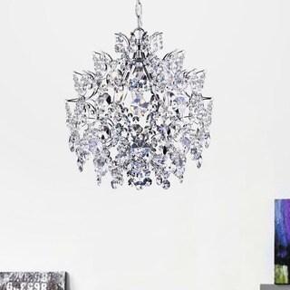 Silver Orchid Taylor Elegant Indoor 3-light Chrome/ Crystal Chandelier