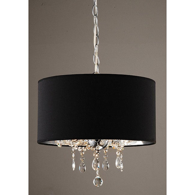 Indoor 3 Light Black Chrome Pendant Chandelier