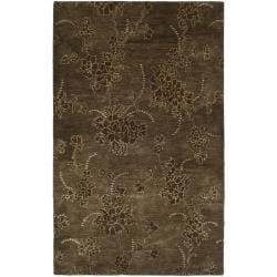 Handmade Soho Fall Brown New Zealand Wool Rug (8'3 x 11')