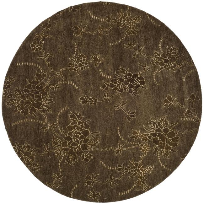 Safavieh Handmade Soho Fall Brown New Zealand Wool Rug (6' Round)