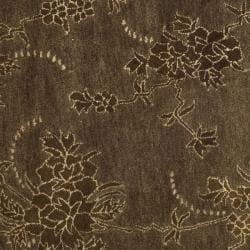 Safavieh Handmade Soho Fall Brown New Zealand Wool Rug (6' Round)