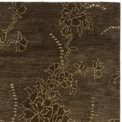 Handmade Soho Fall Brown New Zealand Wool Rug (3'6 x 5'6')