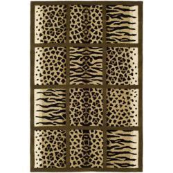 Safavieh Handmade Soho Jungle Print Beige New Zealand Wool Rug (8'3 x 11')