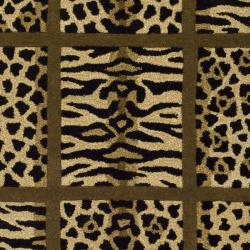 Handmade Soho Jungle Print Beige New Zealand Wool Rug (7'6 x 9'6)