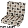 Saranac Teak Lounge Chair Cushion Set Made with Sunbrella Fabric