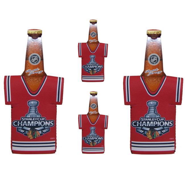 Chicago Blackhawks Stanley Cub Champion Red Bottle Koozies (Set of 4)