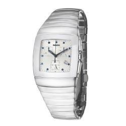 Rado Silver Men's 'Sintra' Ceramic Chronograph Quartz Watch