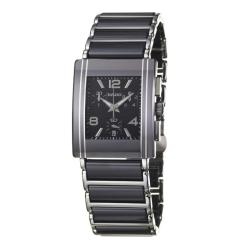 Rado Men's 'Integral' Stainless Steel/ Black Ceramic Quartz Watch