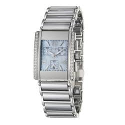 Rado Men's 'Integral' Ceramic/ Steel Quartz Diamond Watch