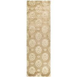 Handmade Soho Seasons Beige New Zealand Wool Runner (2'6 x 10')