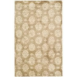 Handmade Soho Seasons Beige New Zealand Wool Rug (5'x 8')