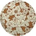 Handmade Garden Chocolate/ Light Blue N. Z. Wool Rug (6' Round)
