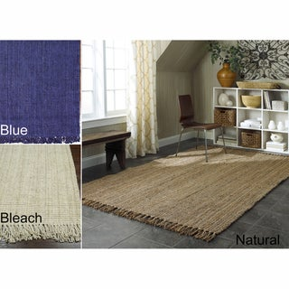 Handmade Eco Natural Fiber Chunky Loop Jute Rug (5' x 8')